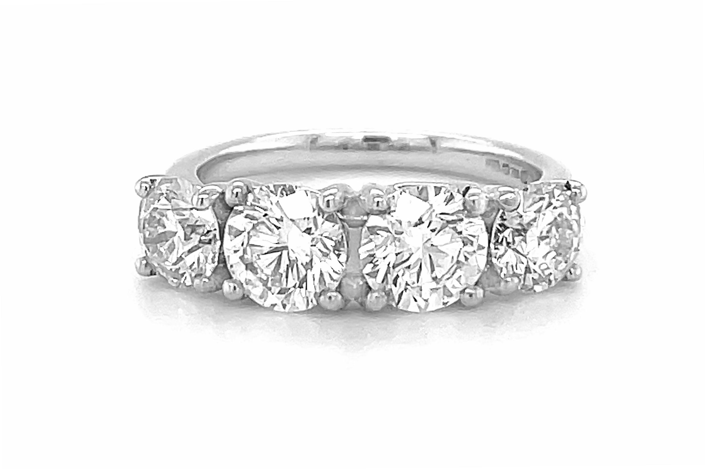 4 Stone Brilliant Cut Diamond Ring
