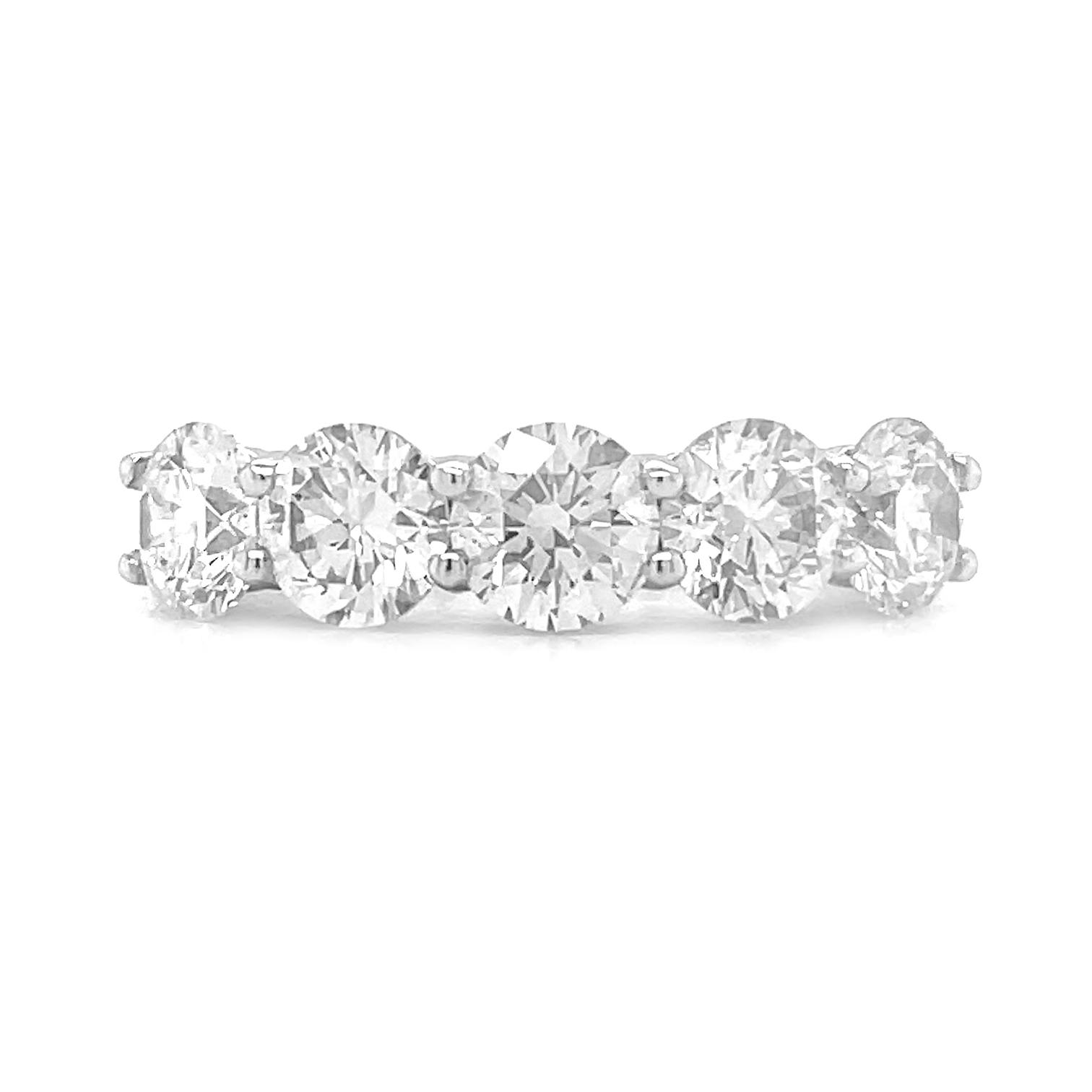 5 Stone Diamond Ring, Total Diamond Weight 2.53cts