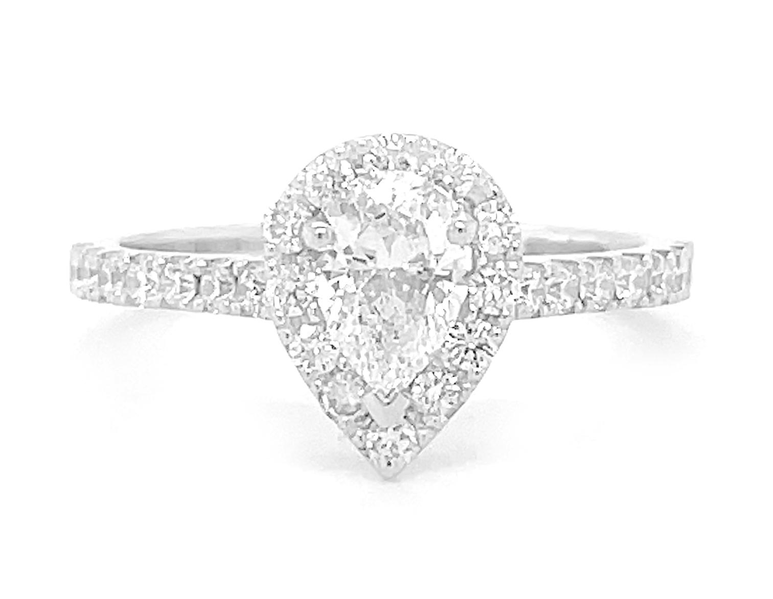 Pearshape Diamond Cluster Ring