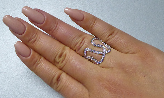 18k White Gold Brilliant Cut Diamond Fancy Ring