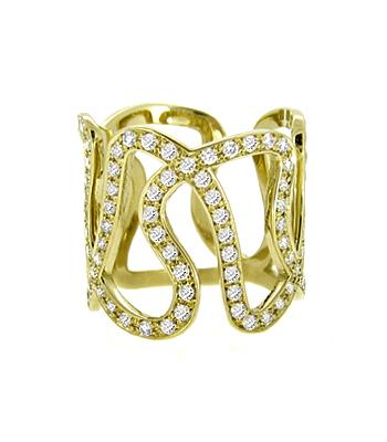 18k Red Gold Brilliant Cut Diamond Fancy Ring