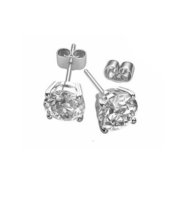 18k Yellow Gold Brilliant Cut Diamond Stud Earrings