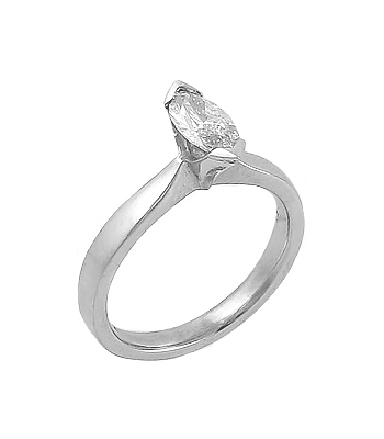 Platinum Marquise Diamond Solitaire Ring