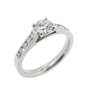 0.52cts Diamond Solitaire Engagement Ring