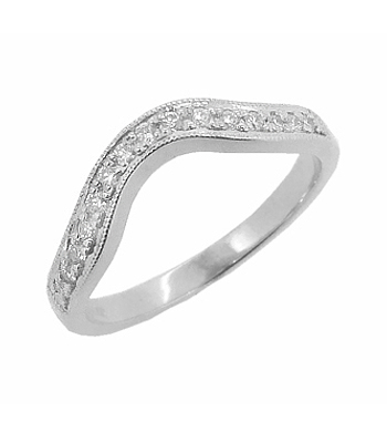 18k White Gold Brilliant Cut Diamond Fitted Ring
