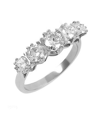 5 Stone, White Gold Diamond Ring