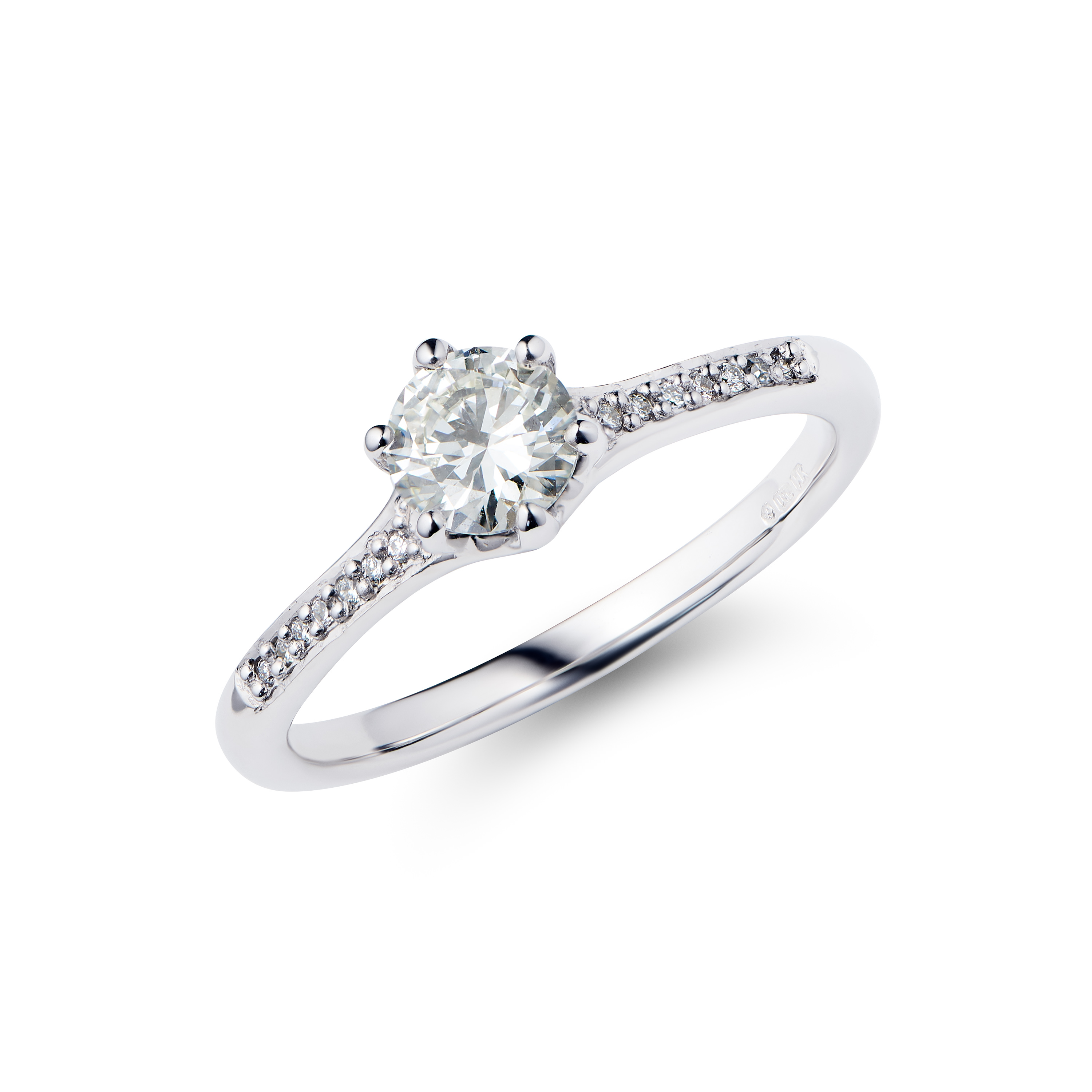 Solitaire Engagement Ring, 0.50cts Diamond