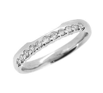 18k White Gold 0.28cts Diamond Fitted Wedding Ring