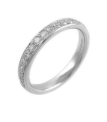 18k White Gold Brilliant Cut Diamond Eternity Ring